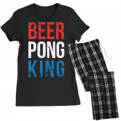 beer pong king Women's Pajamas Set | Artistshot