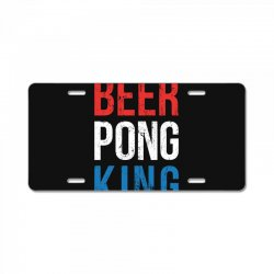 beer pong king License Plate | Artistshot