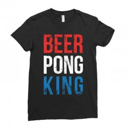 beer pong king Ladies Fitted T-Shirt | Artistshot