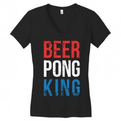 beer pong king Women's V-Neck T-Shirt | Artistshot