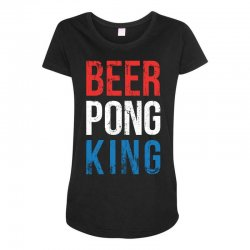 beer pong king Maternity Scoop Neck T-shirt | Artistshot