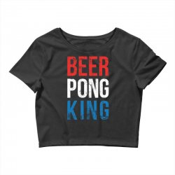 beer pong king Crop Top | Artistshot