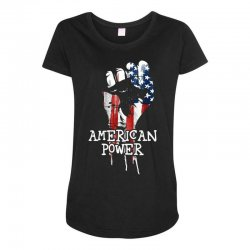 american power Maternity Scoop Neck T-shirt | Artistshot
