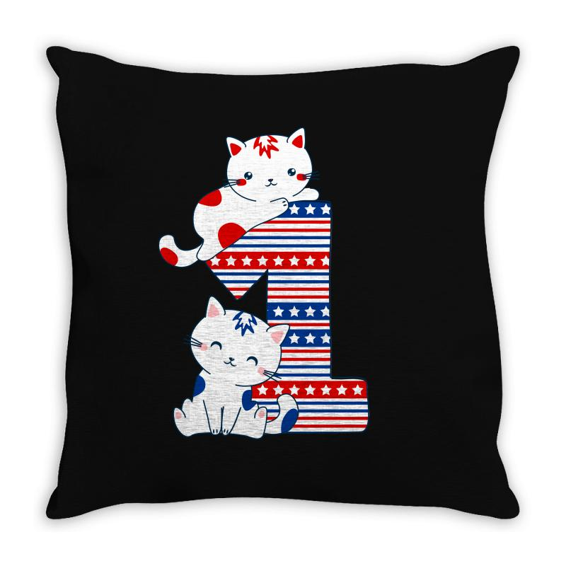 American One Year Old Baby Throw Pillow | Artistshot