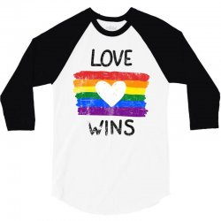 love wins for light 3/4 Sleeve Shirt | Artistshot