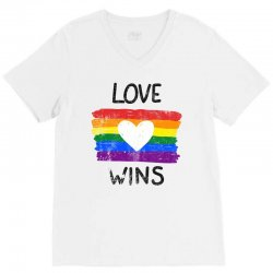 love wins for light V-Neck Tee | Artistshot