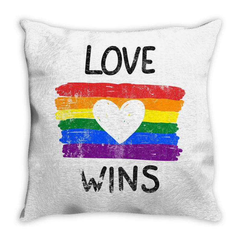 Love Wins For Light Throw Pillow | Artistshot