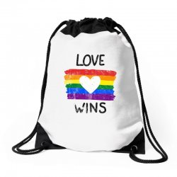 love wins for light Drawstring Bags | Artistshot