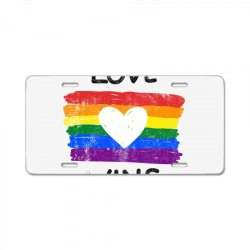love wins for light License Plate | Artistshot