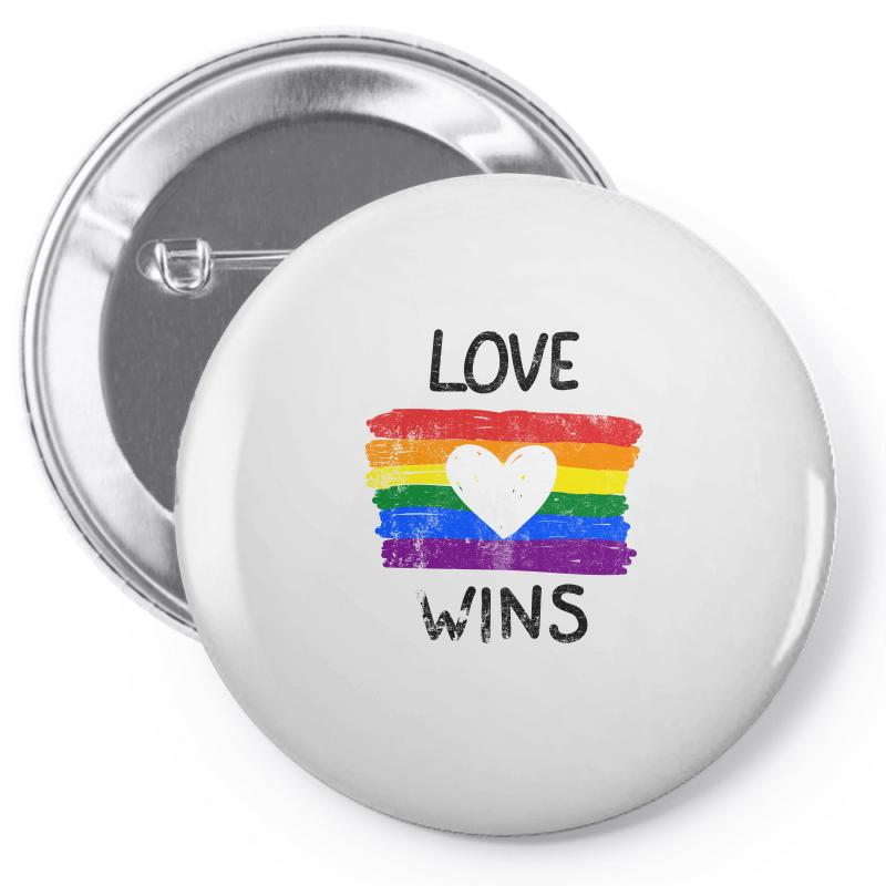 Love Wins For Light Pin-back Button | Artistshot