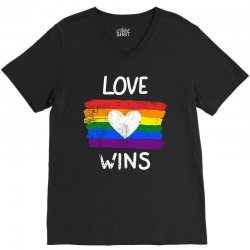 love wins for dark V-Neck Tee | Artistshot