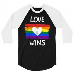 love wins for dark 3/4 Sleeve Shirt | Artistshot