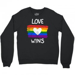 love wins for dark Crewneck Sweatshirt | Artistshot