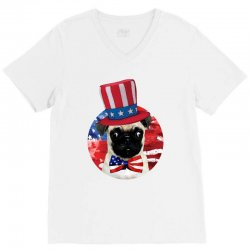 fourth of july dog V-Neck Tee | Artistshot