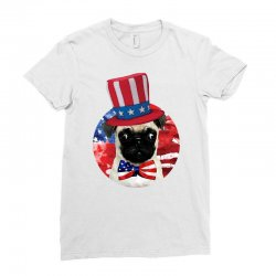 fourth of july dog Ladies Fitted T-Shirt | Artistshot