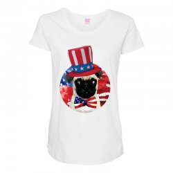 fourth of july dog Maternity Scoop Neck T-shirt | Artistshot