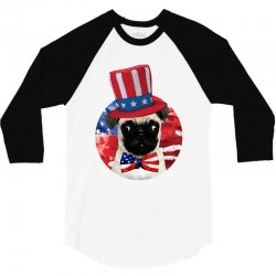 fourth of july dog 3/4 Sleeve Shirt | Artistshot