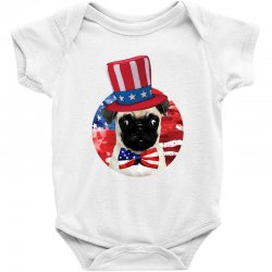 fourth of july dog Baby Bodysuit | Artistshot