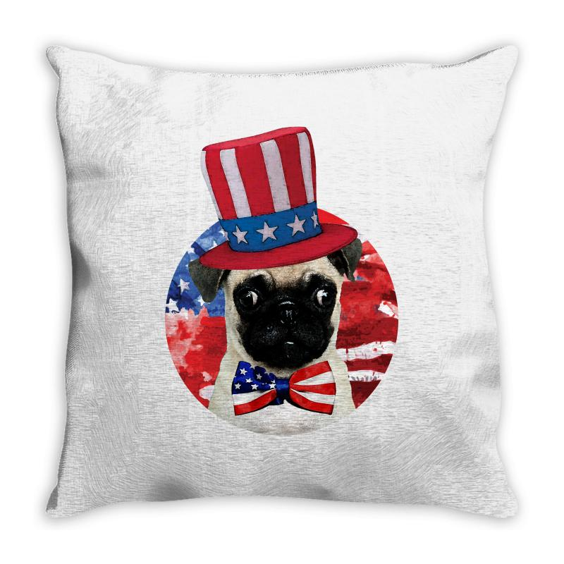 Fourth Of July Dog Throw Pillow | Artistshot