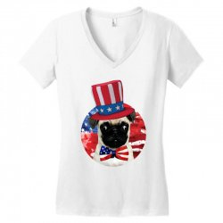 fourth of july dog Women's V-Neck T-Shirt | Artistshot