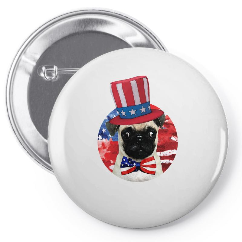 Fourth Of July Dog Pin-back Button | Artistshot