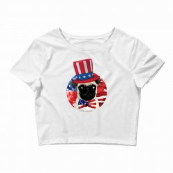 fourth of july dog Crop Top | Artistshot