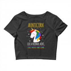 aunticorn like a normal aunt only more awesome Crop Top | Artistshot