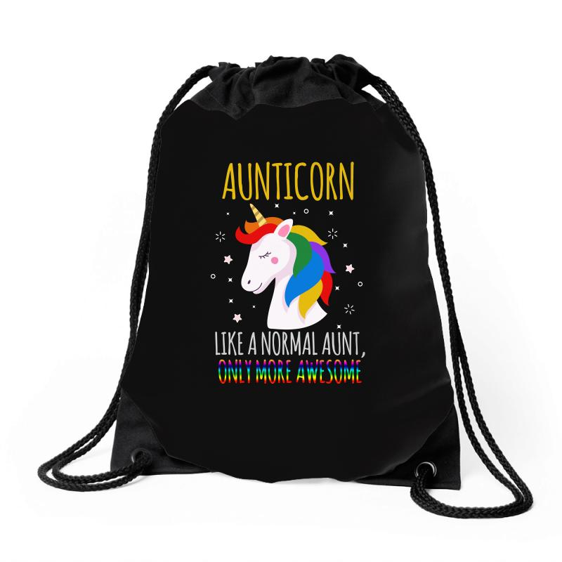 Aunticorn Like A Normal Aunt Only More Awesome Drawstring Bags | Artistshot