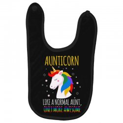 aunticorn like a normal aunt only more awesome Baby Bibs | Artistshot