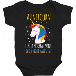aunticorn like a normal aunt only more awesome Baby Bodysuit | Artistshot