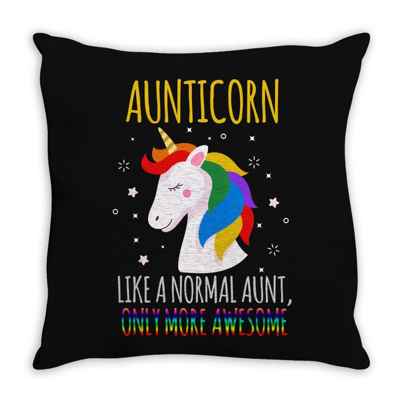 Aunticorn Like A Normal Aunt Only More Awesome Throw Pillow | Artistshot