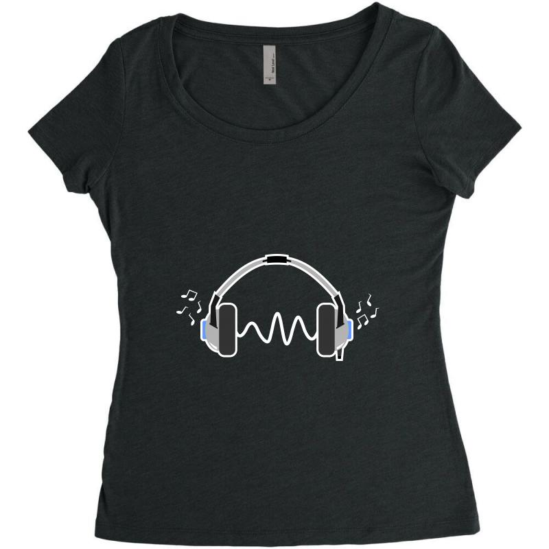Feels The Music Women's Triblend Scoop T-shirt | Artistshot