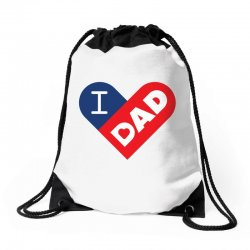 I love my Dad Drawstring Bags | Artistshot