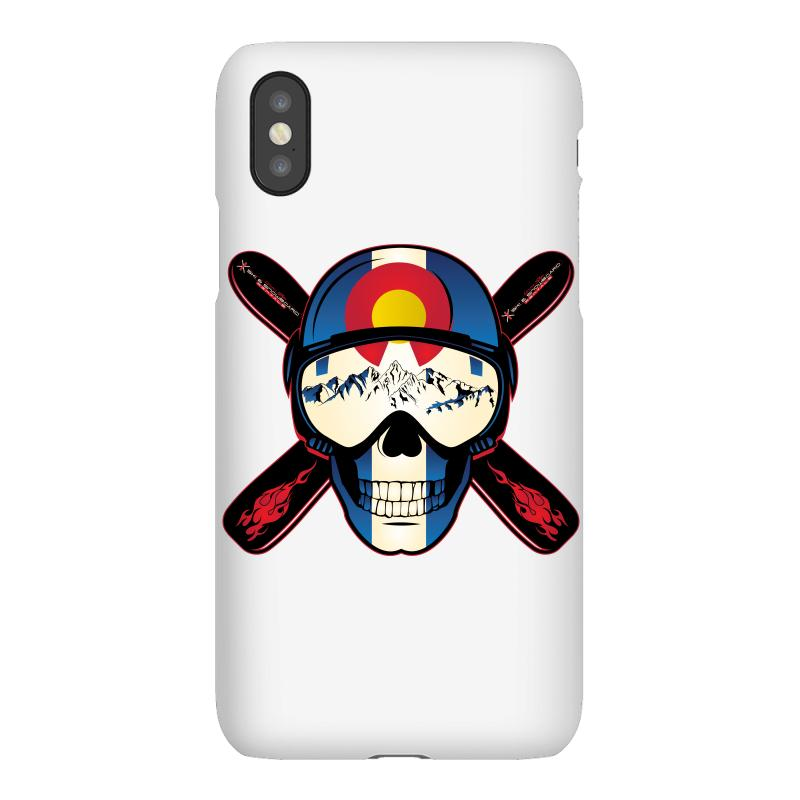 Skiing Skull Colorado Iphonex Case | Artistshot