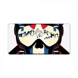 Skiing skull colorado License Plate | Artistshot