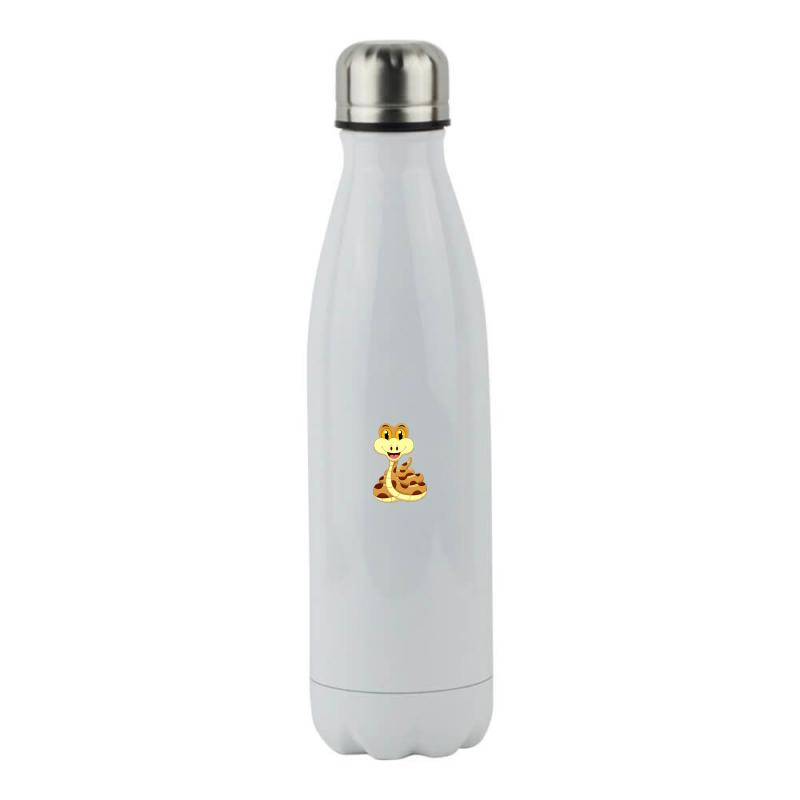 Smiling Snake Stainless Steel Water Bottle | Artistshot
