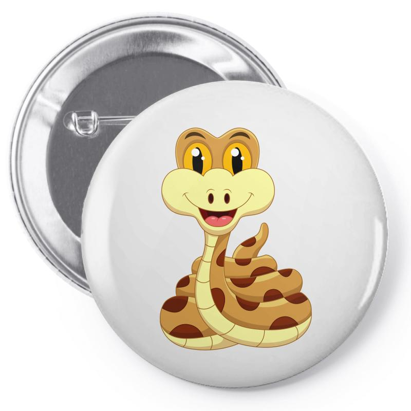 Smiling Snake Pin-back Button | Artistshot