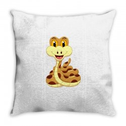 Smiling Snake Throw Pillow | Artistshot