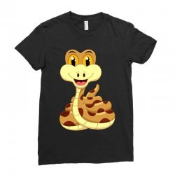Smiling Snake Ladies Fitted T-Shirt | Artistshot
