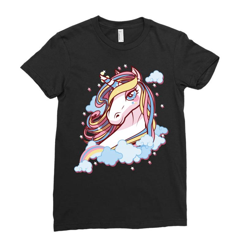 Sparkle Unicorn Ladies Fitted T-shirt | Artistshot