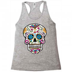 Skull day of the dead Racerback Tank | Artistshot