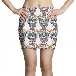 Skull day of the dead Mini Skirts | Artistshot