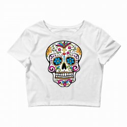 Skull day of the dead Crop Top | Artistshot