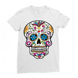 Skull day of the dead Ladies Fitted T-Shirt | Artistshot