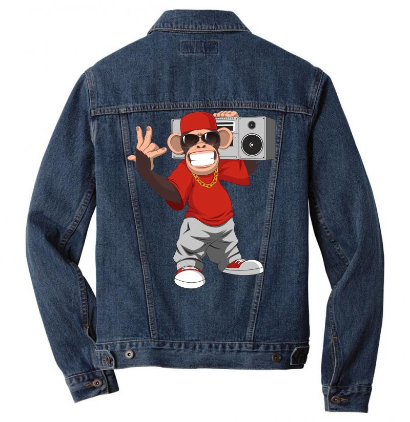 Chimpanzee Gorilla Hip Hop Men Denim Jacket | Artistshot