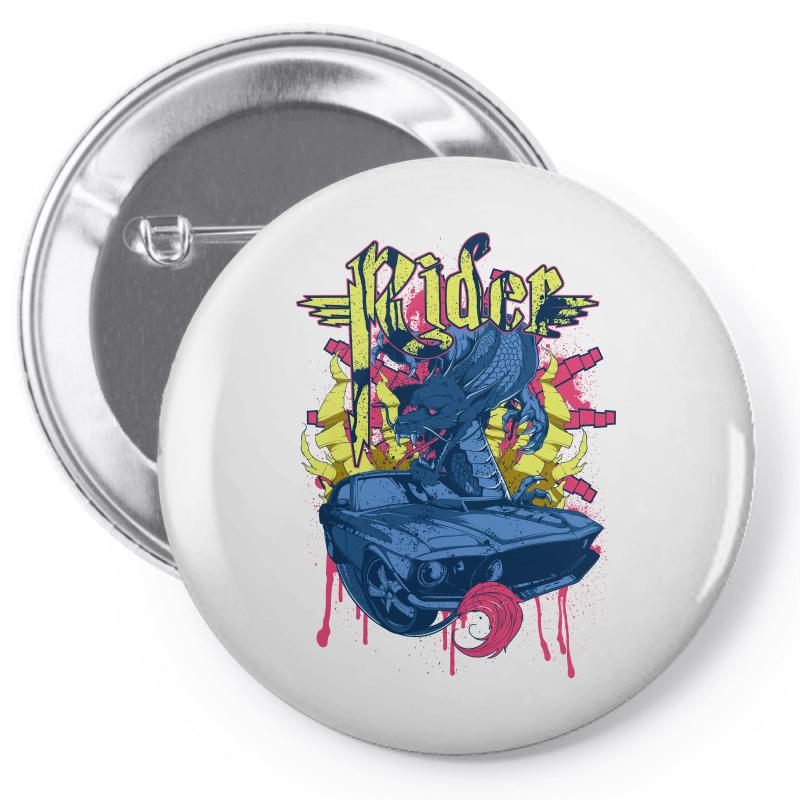Rider Pin-back Button | Artistshot