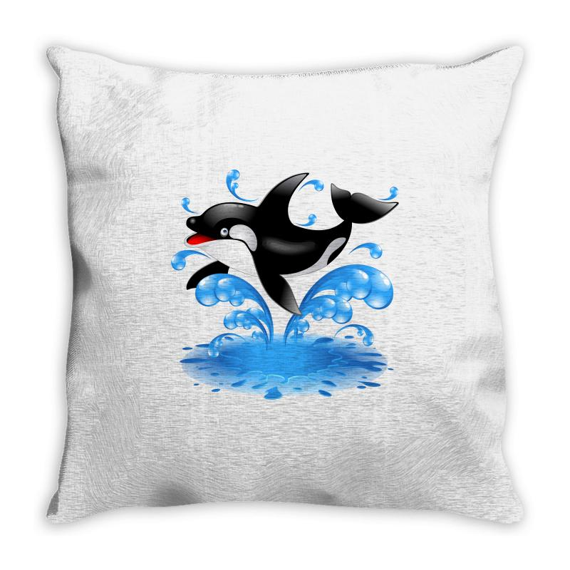 Baby Whale Throw Pillow | Artistshot