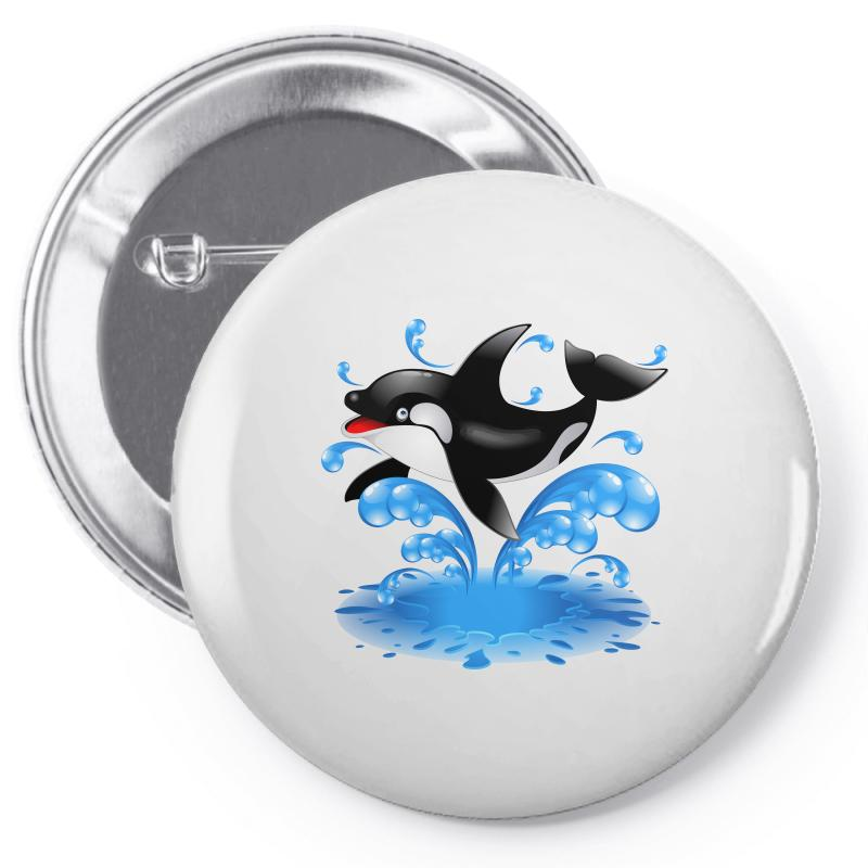 Baby Whale Pin-back Button | Artistshot