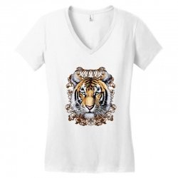 Tiger Women's V-Neck T-Shirt | Artistshot