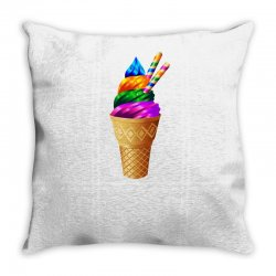 Ice cream flavours Throw Pillow | Artistshot
